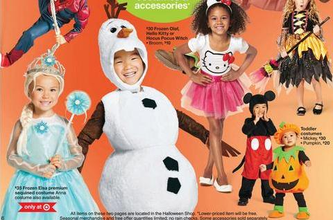 Deals on Disney costumes at Target this week